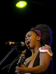 South African singer-songwriter Zahara performs at the Cape Town International Jazz Festival on March 31. The 24-year-old, big-voiced, soulful Afro-pop singer with humble roots only burst onto the scene last year but was billed alongside Hugh Masekela, James Ingram and Lauryn Hill and starred on the festival's magazine cover.