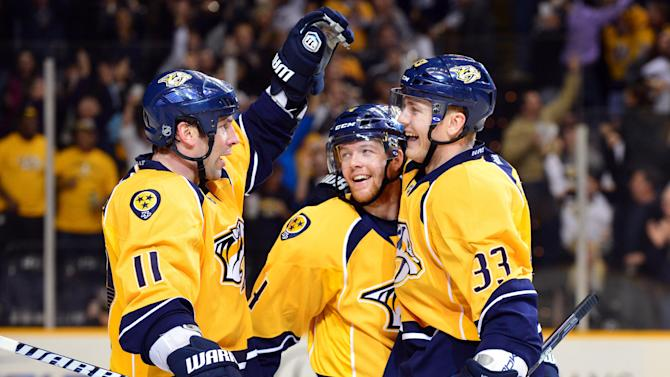NHL: San Jose Sharks at Nashville Predators