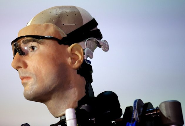 "A picture shows ""Rex"", the world's first ""bionic man"", during a photo call at the Science Museum in London on February 5, 2013. The 640,000 GBP (1 million US dollars) humanoid has a distinctly human s"