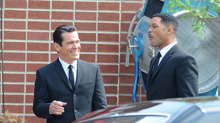 Men in Black III On Location 2011 Josh Brolin Will Smith