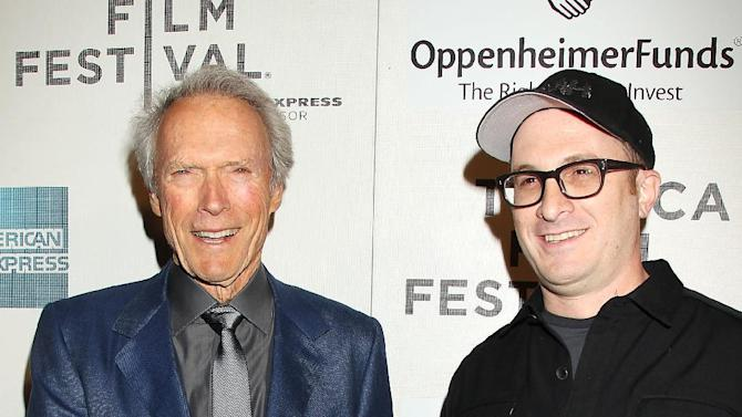 "This image released by Starpix shows directors Clint Eastwood, left, and Darren Aronofsky at the Tribeca Talks Directors Series in New York on Saturday, April 27, 2013. In a wide-ranging interview Saturday about film directing at the Tribeca Film Festival, Eastwood said he admires the 104-year-old Portuguese director Manoel de Oliveira.  Said Eastwood: ""It would be great to be 105 and still making films."" He laughed and called such a hope ""the ultimate optimism.""  The director joined fellow filmmaker Darren Aronofsky for a staged conversation at the New York film festival following a screening of Richard Schickel's documentary: ""Eastwood Directs: The Untold Story.""  (AP Photo/Starpix, Dave Allocca)"