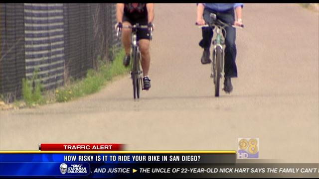How risky is it to ride your bike in San Diego?