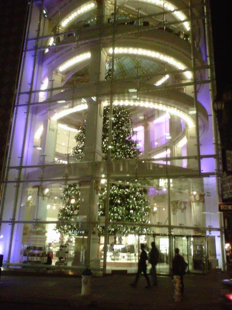 Neiman Marcus, San Francisco, at Christmas. (Photo courtesy of Laurie Jo Miller Farr.)