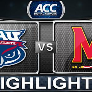 Florida Atlantic vs Maryland | 2013 ACC Basketball Highlights
