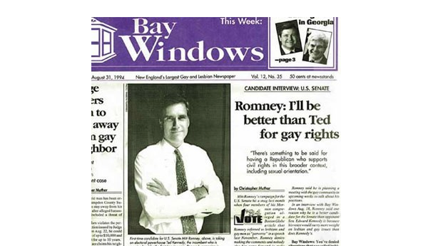 This Is How Proud Romney Was to Be Pro-Gay Rights in 1994
