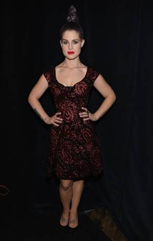 Kelly Osbourne poses backstage at the Marc Jacobs Spring 2013 fashion show during Mercedes-Benz Fashion Week at N.Y. State Armory on September 10, 2012 in New York City -- Getty Images