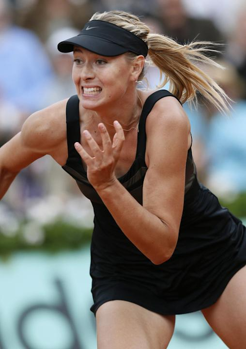 Russia's Maria Sharapova Runs AFP/Getty Images
