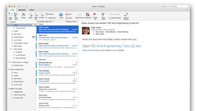 You can download the newest version of Outlook for Mac right now