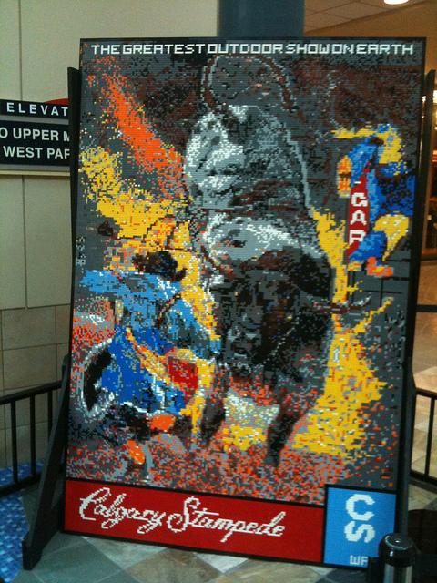 Calgary Stampede Lego Mosaic by Dave Ware