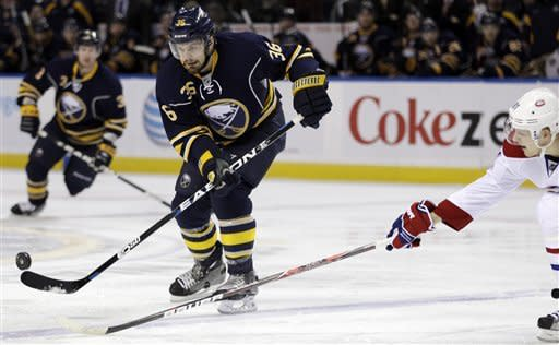 Myers scores OT goal in Sabres' 3-2 win over Habs