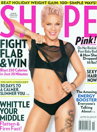 P!nk Reveals 55lbs Weight Loss On The Cover Of Shape Magazine