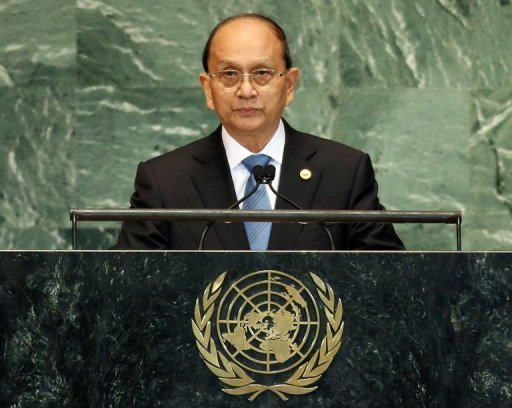 "Thein Sein said that he wants to ""completely end"" a long running war with ethnic rebels in Kachin state"