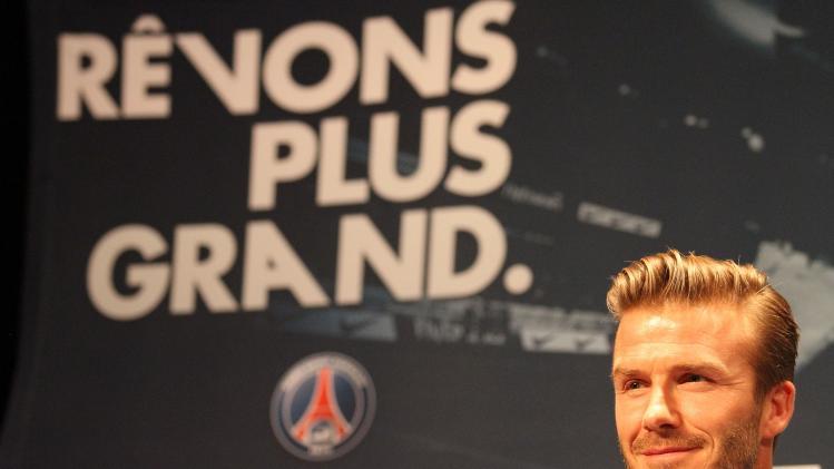 David Beckham Signs For Paris Saint-Germain