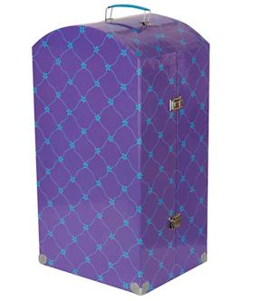 This undated image made available by the U.S. Consumer Product Safety Commission on Friday, Sept. 27, 2013, shows the Journey Girl Travel Trunk. The blue metal handle on the trunk can be sharp, presenting a laceration hazard to the user. (AP Photo/CPSC)