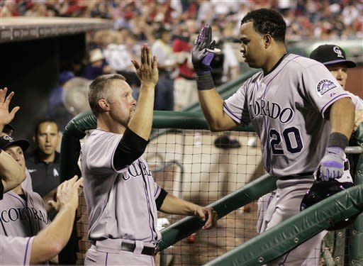 Nelson and Rosario homer, Rockies beat Phillies