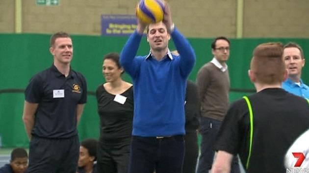 William visits youth sports centre