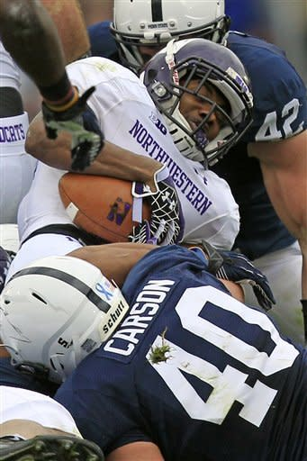Penn State races past No. 24 Northwestern 39-28
