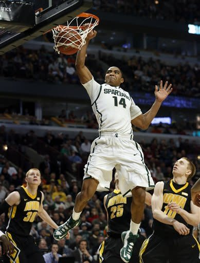 No. 8 Michigan State beats Iowa at B10 tournament