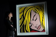 US artist Roy Lichtenstein&#39;s &#39;Sleeping Girl&#39; on display at Sotheby&#39;s in London on April 12. The work fetched $44.9 million, including commission, at the Contemporary Art Evening sale in New York, on May 9