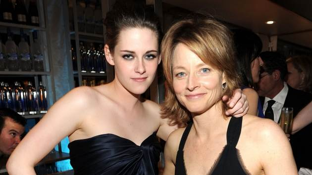 Kristen Stewart and Jodie Foster attend the 2010 Vanity Fair Oscar Party at the Sunset Tower Hotel in West Hollywood on March 7, 2010  -- Getty Images