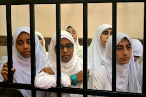 Egyptian women supporters of ousted President …