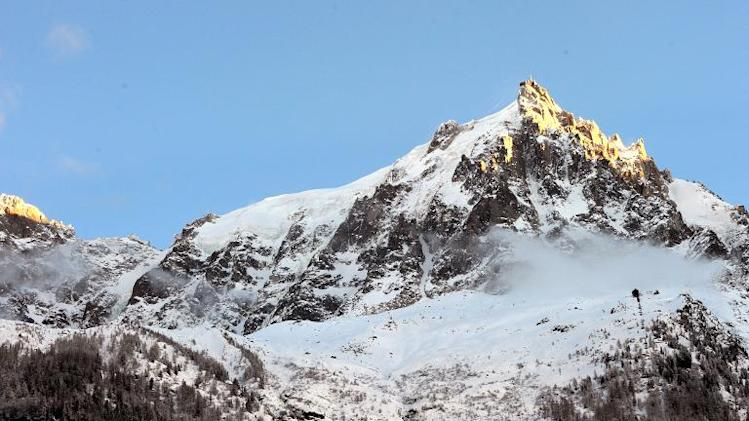 File image for illustration shows a mountain in Chamonix in the Haute-Savoie region of the French Alps, pictured on December 26, 2012