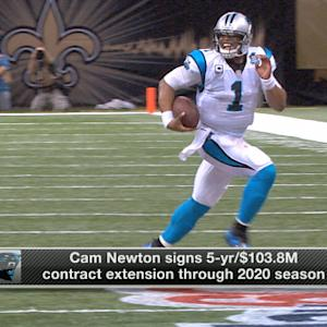 Carolina Panthers quarterback Cam Newton signs five-year contract extension
