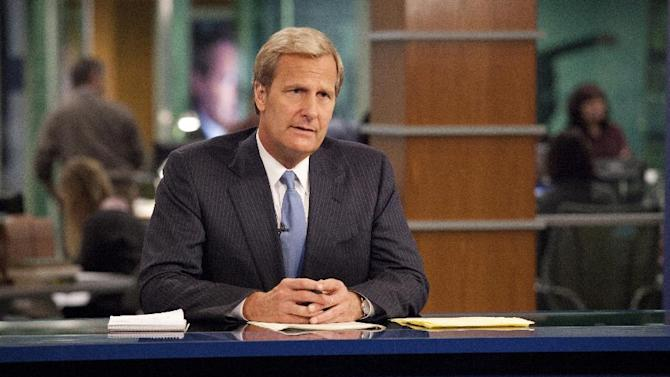 "This publicity image released by HBO shows Jeff Daniels portraying anchor Will McAvoy on the HBO series, ""The Newsroom,"" premiering Sunday, June 24, 2012 at 10 p.m. EST on HBO. (AP Photo/HBO, John P. Johnson)"