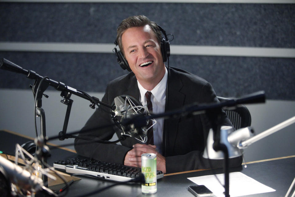 "This undated image released by NBC shows Matthew Perry portraying Ryan King in the pilot episode of ""Go On,"" airs Sept 11, at 9 p.m. EST on NBC. (AP Photo/NBC, Jordin Althaus)"