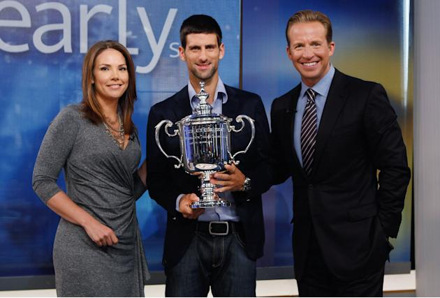 U.S. Open Champion Novak Djokovic Tours Manhattan