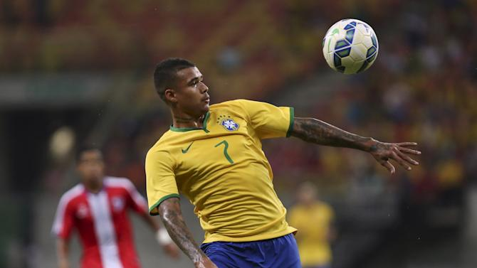 Kenedy of Brazil's Under-23 team controls the ball during their friendly soccer match against Dominican Republic's Under-23 team in Manaus