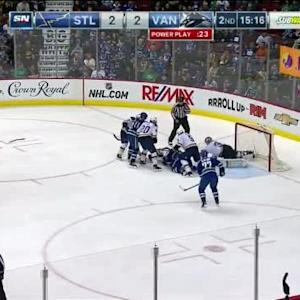 Jake Allen Save on Henrik Sedin (04:42/2nd)