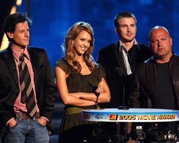 Ioan Gruffudd, Jessica Alba, Chris Evans and Michael Chiklis MTV Movie Awards 2005 - Show Los Angeles, CA - 6/4/05