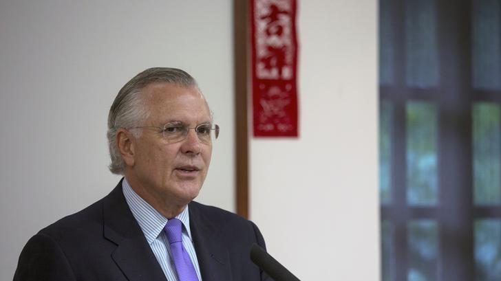 Richard Fisher, president of the Federal Reserve Bank of Dallas,speaks during at luncheon in Hong Kong