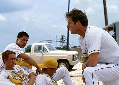 Chad Lindberg , Jay Hernandez and Dennis Quaid in Walt Disney's The Rookie