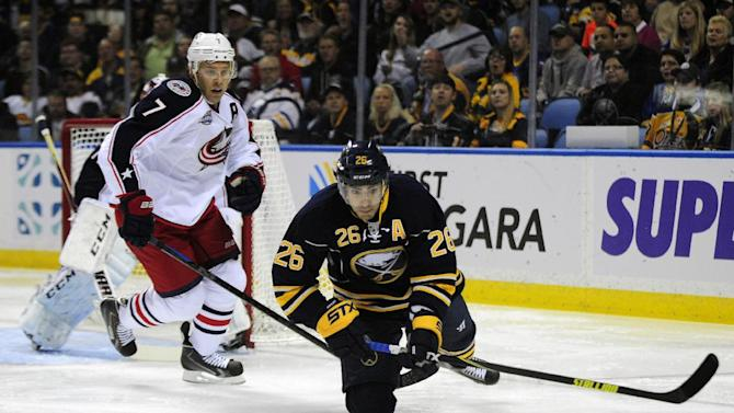 Blue Jackets beat Sabres 3-1 in season opener