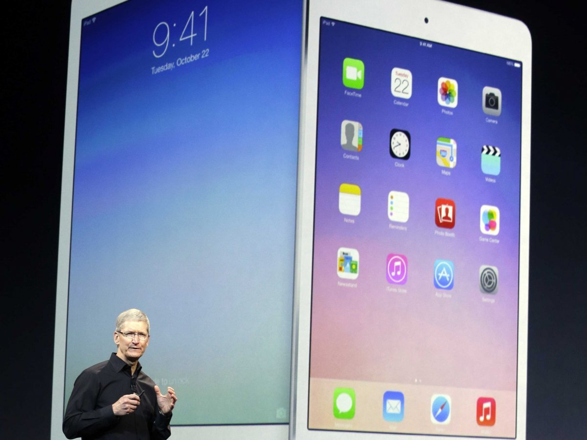 tim cook and new ipad