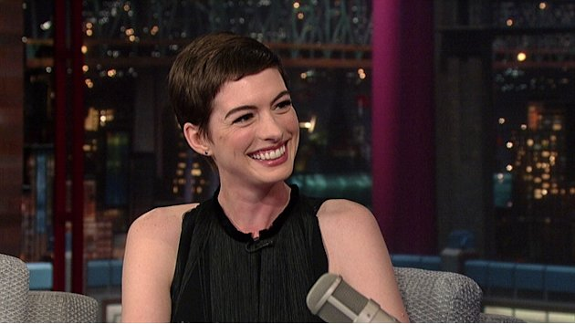 David Letterman - Anne Hathaway Is Catwoman