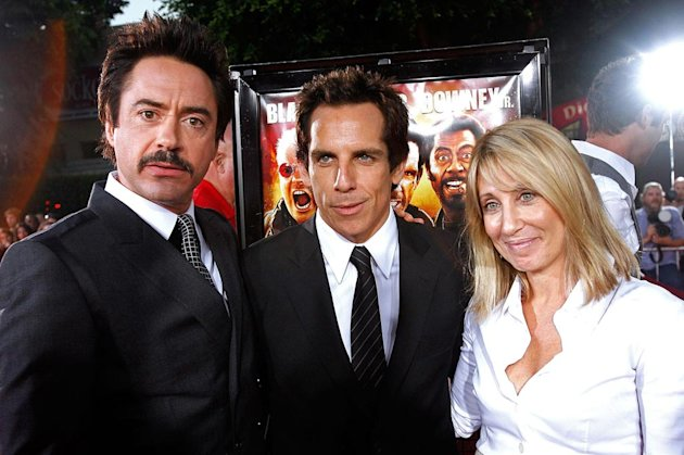 Tropic Thunder LA Premiere 2008 Robert Downey Jr Ben Stiller