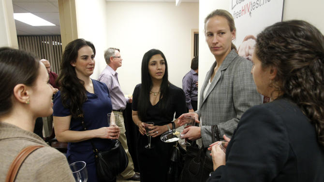 (l-r)Dr. Stacy Beal, Dr. Pari Ghodsi, Dr. Roshini Gandhi Mirchandani, AHF Medical Director of Texas,  Ashley Johnston and Jennifer Gurevitz at the Grand Opening of the new AHF Healthcare Center in Dallas, Tex. Monday, December 3, 2012 in Fort Worth, Texas. (Richard W. Rodriguez /AP Images for AIDS Healthcare Foundation)