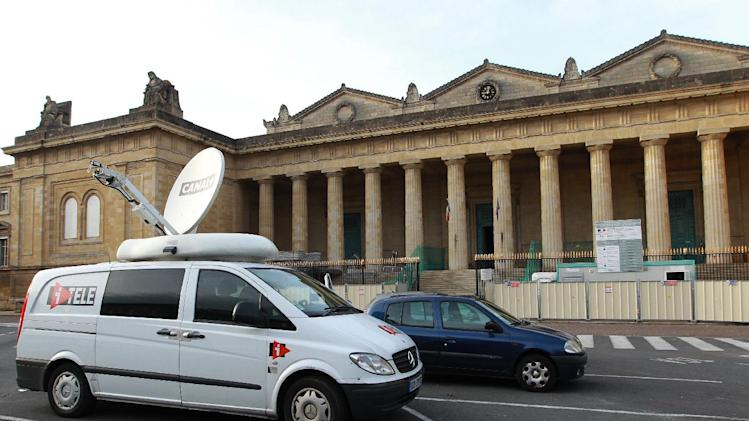 ADDING THAT FORREST EXPECTED TO APPEAR IN COURT UPCOMING TUESDAY AND OTHER DETAILS - A view of the court of Bordeaux, southwestern France, Friday, Sept. 28, 2012, where maths teacher Jeremy Forrest is widely expected to appear on upcoming Tuesday. 15-year-old British schoolgirl Megan Stammers went missing on Sept. 21, along with her 30-year old maths teacher Jeremy Forrest, and sparked an international search to locate them, and they have been found safe and well in Bordeaux. News reports on Friday say that schoolgirl Megan Stammers will return home, and that teacher Jeremy Forrest is likely to appear in court Tuesday Oct. 2. (AP Photo/Bob Edme)
