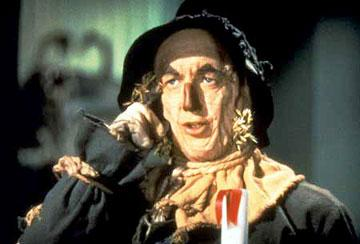 The Scarecrow ( Ray Bolger ) in Warner Home Entertainment's DVD release of The Wizard of Oz