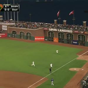 Pence's impressive double play
