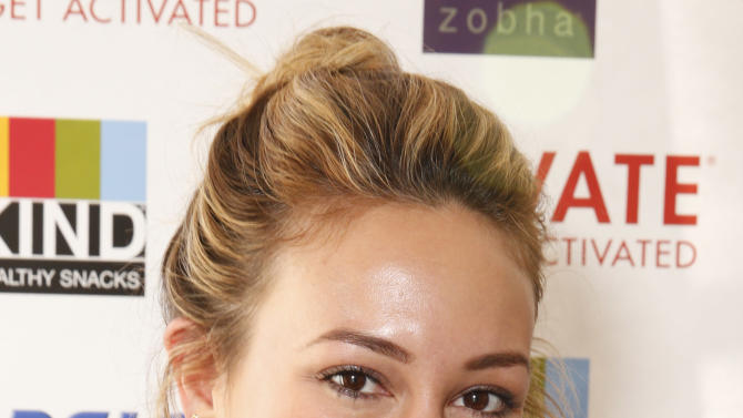 Haylie Duff attends Zobha's Cycle With Soul Charity Ride on Monday, Feb. 18., 2013 in Los Angeles. (Photo by Todd Williamson/Invision for Zobha/AP)