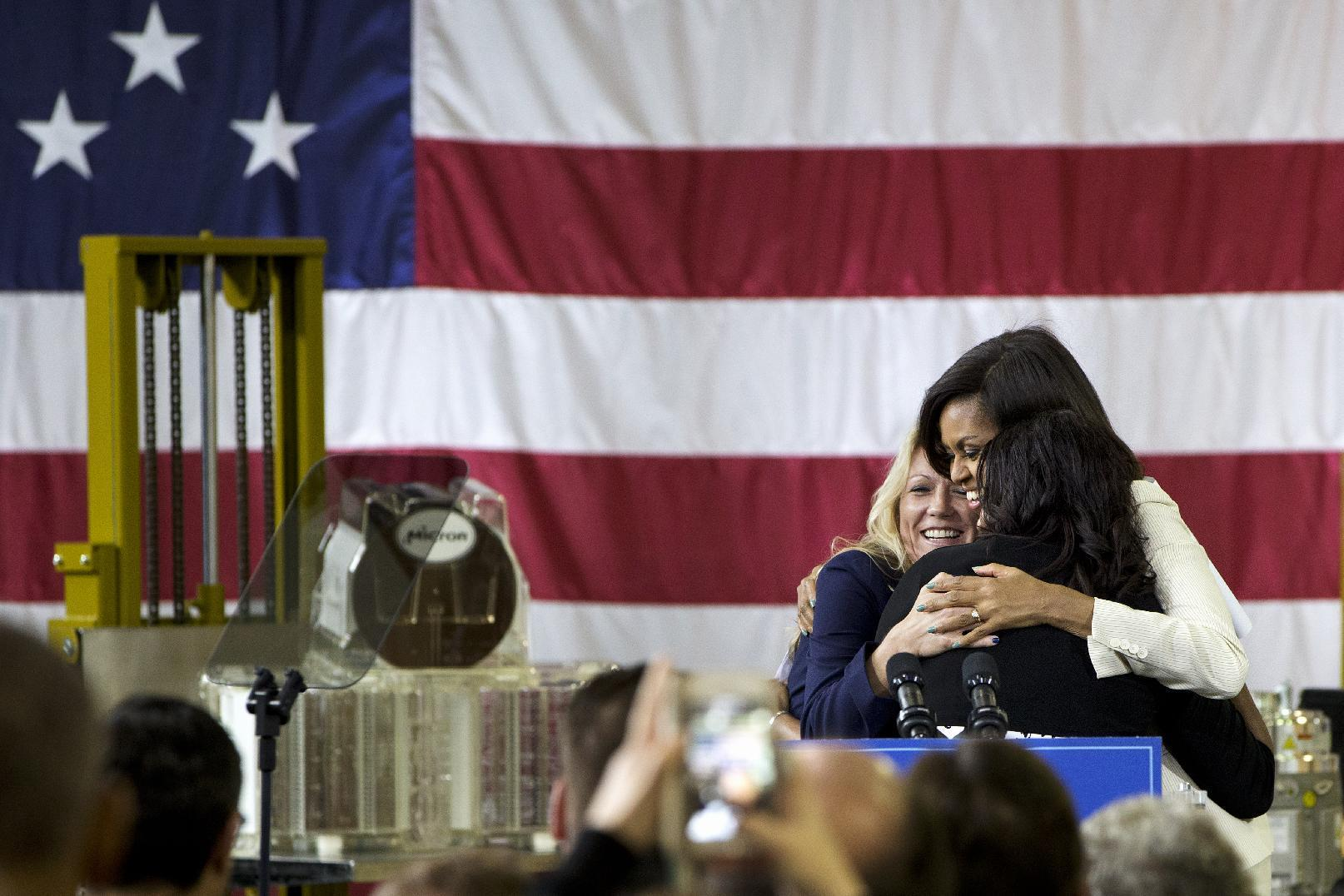 First lady: Tech industry to train, hire 90K military vets