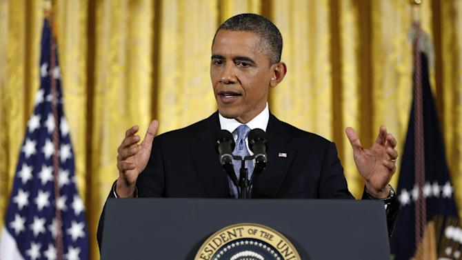 President Barack Obama answers a question during a news conference in the East Room of the White House in Washington Wednesday, Nov. 14, 2012. (AP Photo/Carolyn Kaster)