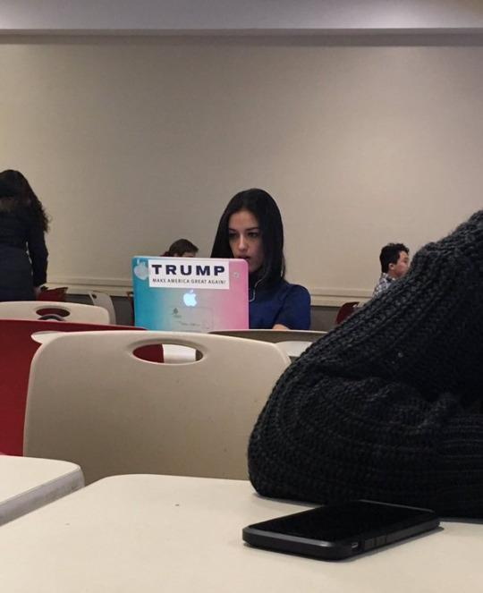 Trump Sticker Causes Meltdown on College Campus