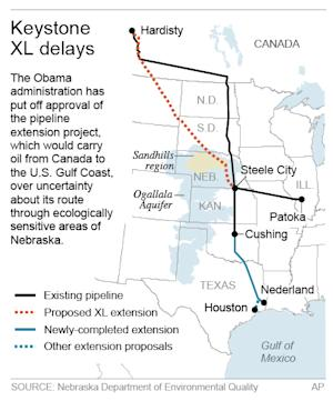 Map shows the proposed Keystone pipeline route; 2c…