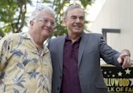 "US musical icon Neil Diamond (R) and songwriter Randy Newman at Diamond's star unveiling ceremony on the Hollywood Walk of Fame on August 10. ""He is one of those people, rare in entertainment, who America loves,"" Newman said"