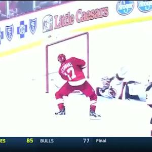 David Legwand scores his first Red Wings goal
